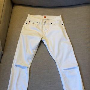 Hugo Boss orange label, white 3/4 jeans, size 25